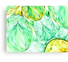 green abstract wave psychedelic background. Fractal artwork for creative design. Canvas Print