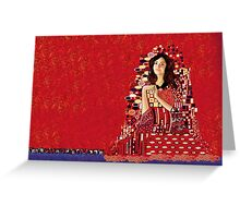 Portrait of Clara Oswin-Oswald a la Klimt Greeting Card