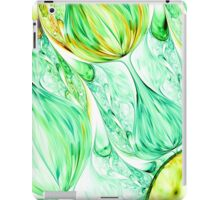 green abstract wave psychedelic background. Fractal artwork for creative design. iPad Case/Skin