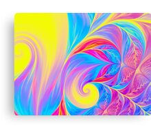 abstract wave psychedelic oil background. Fractal artwork for creative design. Canvas Print