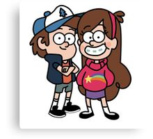 Gravity Falls Mable and Dipper Canvas Print