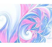 abstract wave psychedelic oil background. Fractal artwork for creative design. Photographic Print