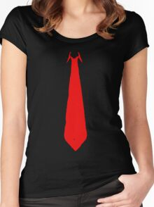 Red Tie Women's Fitted Scoop T-Shirt