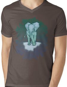 Emerald Elephant in the Lilac Evening Mens V-Neck T-Shirt