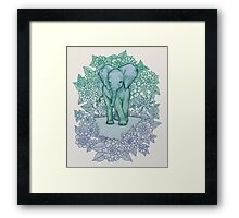Emerald Elephant in the Lilac Evening Framed Print