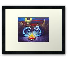 Two Trolls Framed Print