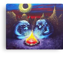 Two Trolls Canvas Print
