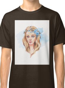 Girl with blue eyes  Classic T-Shirt