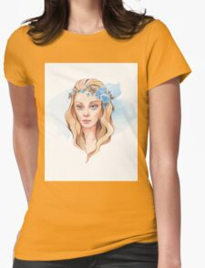 Girl with blue eyes  Womens Fitted T-Shirt