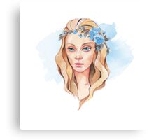 Girl with blue eyes  Canvas Print