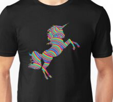 Rainbow Unicorn - custom colours available... Unisex T-Shirt