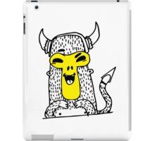 Urban monkey in viking helmet iPad Case/Skin