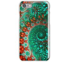 green red double spiral background formed by many flowers iPhone Case/Skin