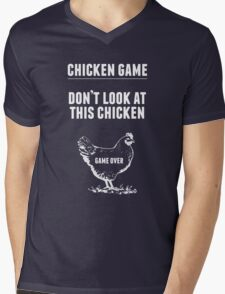 Chicken Game T-Shirt | Funny Chicken Joke Mens V-Neck T-Shirt
