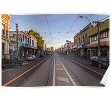 Looking south down Brunswick Street, Fitzroy. Poster