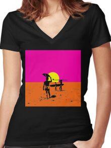 endless summer Women's Fitted V-Neck T-Shirt
