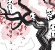 Forest Spirits Sumi-e Sticker