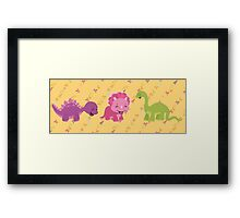 Dinamic Girls Collection - Girl Dinosaur Design Framed Print