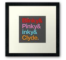 Blinky & Pinky & Inky & Clyde. Framed Print