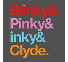Blinky & Pinky & Inky & Clyde. Photographic Print