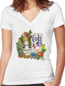 Jeff Spicoli Colt 45 Women's Fitted V-Neck T-Shirt