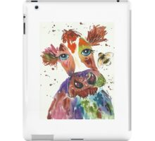 Quirky colourful cow and bumble bee iPad Case/Skin