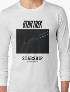 Starship Enterprise Minimalist Star Trek Long Sleeve T-Shirt