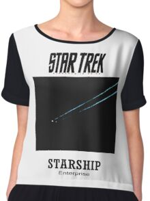 Starship Enterprise Minimalist Star Trek Chiffon Top