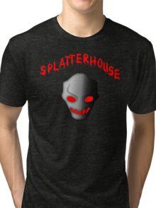 Splatterhouse 3 Terror Mask With Title Tri-blend T-Shirt