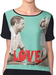 Retro Love. Marilyn & Joe Chiffon Top