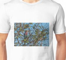 Lilac-breasted roller perched in leafy bush Unisex T-Shirt