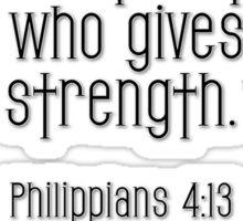 Philippians 4:13 bible verse Sticker