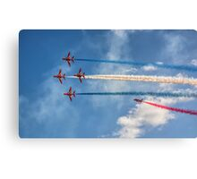 Malta Airshow - Flag Of Uk Canvas Print