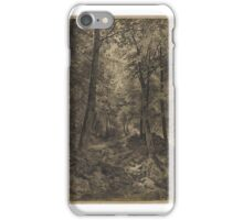 William Trost Richards (American, ). Forest Scene with Rocky Brook,  iPhone Case/Skin