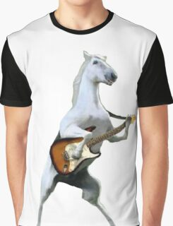 Guitar Horse Graphic T-Shirt