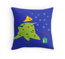 Christmas tree and Christmas candle Throw Pillow