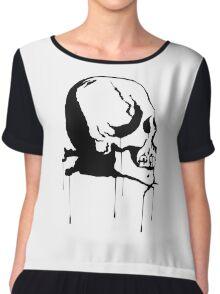 Splatter Skull 2 (black) Chiffon Top