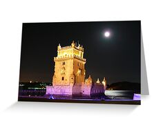 Belém Tower.Portugal Greeting Card