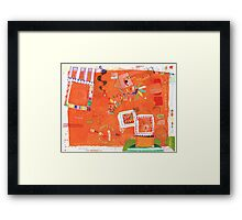 a diary page Framed Print