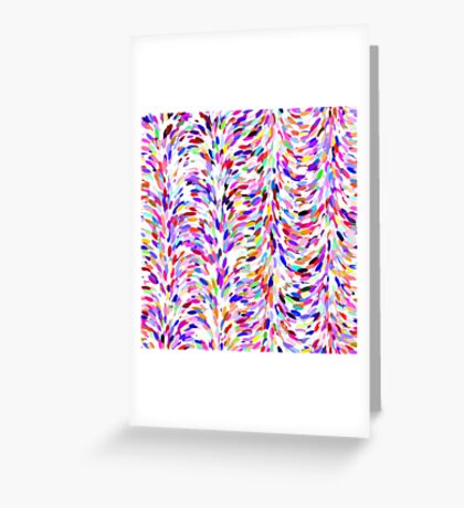 Bright Fun Summer Colors Artsy Paint Splatter Pattern Greeting Card