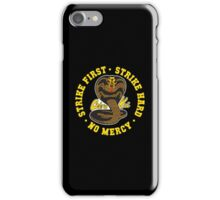 Cobra kai - Strike First Strike Hard No Mercy (Gold Variant) iPhone Case/Skin
