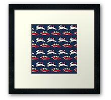 Hare and Fox Pattern Framed Print