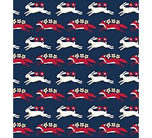 Hare and Fox Pattern Photographic Print