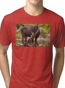 My dinner with a moose - Algonquin Park Tri-blend T-Shirt