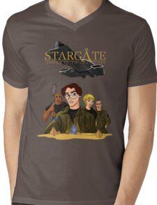 Dίsney SG1 Mens V-Neck T-Shirt
