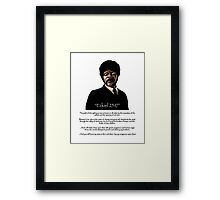 Samuel Jackson - Ezekiel Speech Pulp Fiction Variant Framed Print