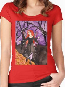 Follow me to the light Women's Fitted Scoop T-Shirt