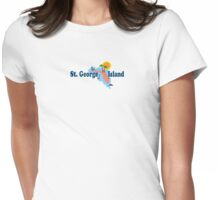 St. George Island - Florida. Womens Fitted T-Shirt