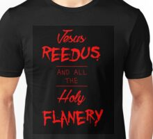 Jesus Reedus And All The Holy Flanery - Black&Red Unisex T-Shirt
