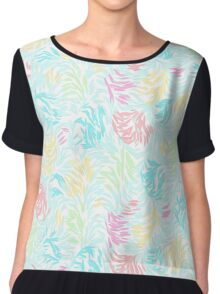 Cute Summer Pastel Watercolor Brush Strokes Pattern Chiffon Top
